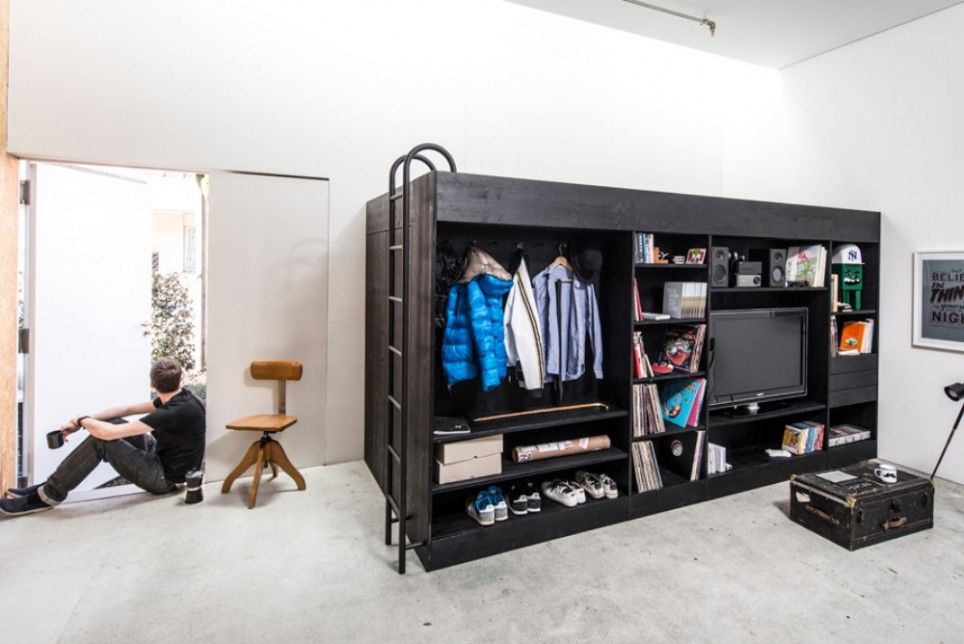 This Combined Bed Closet Is A Studio Apartment Game Changer