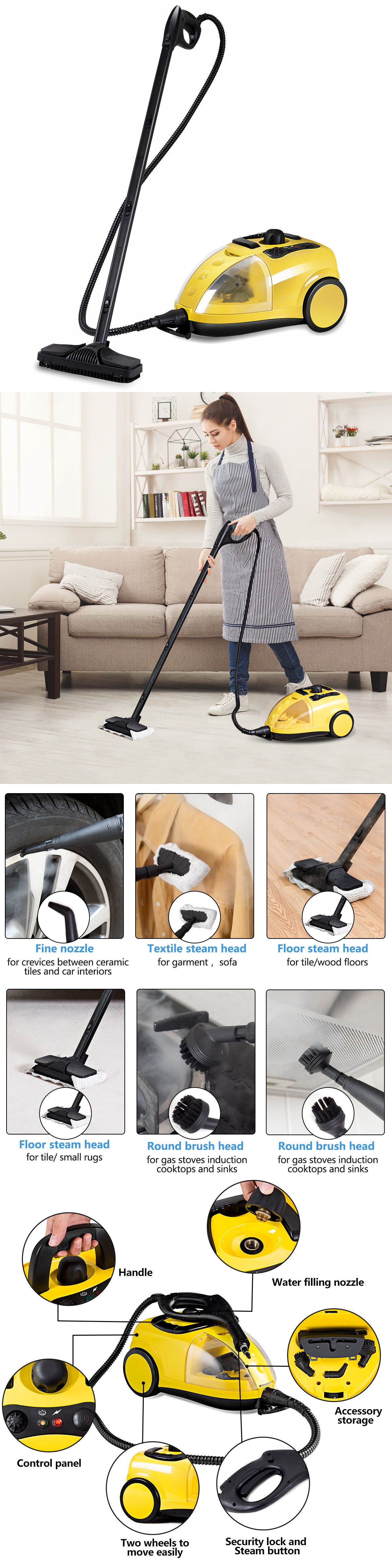 Details About 1500w Heavy Duty Steam Cleaner Mop Multi Purpose