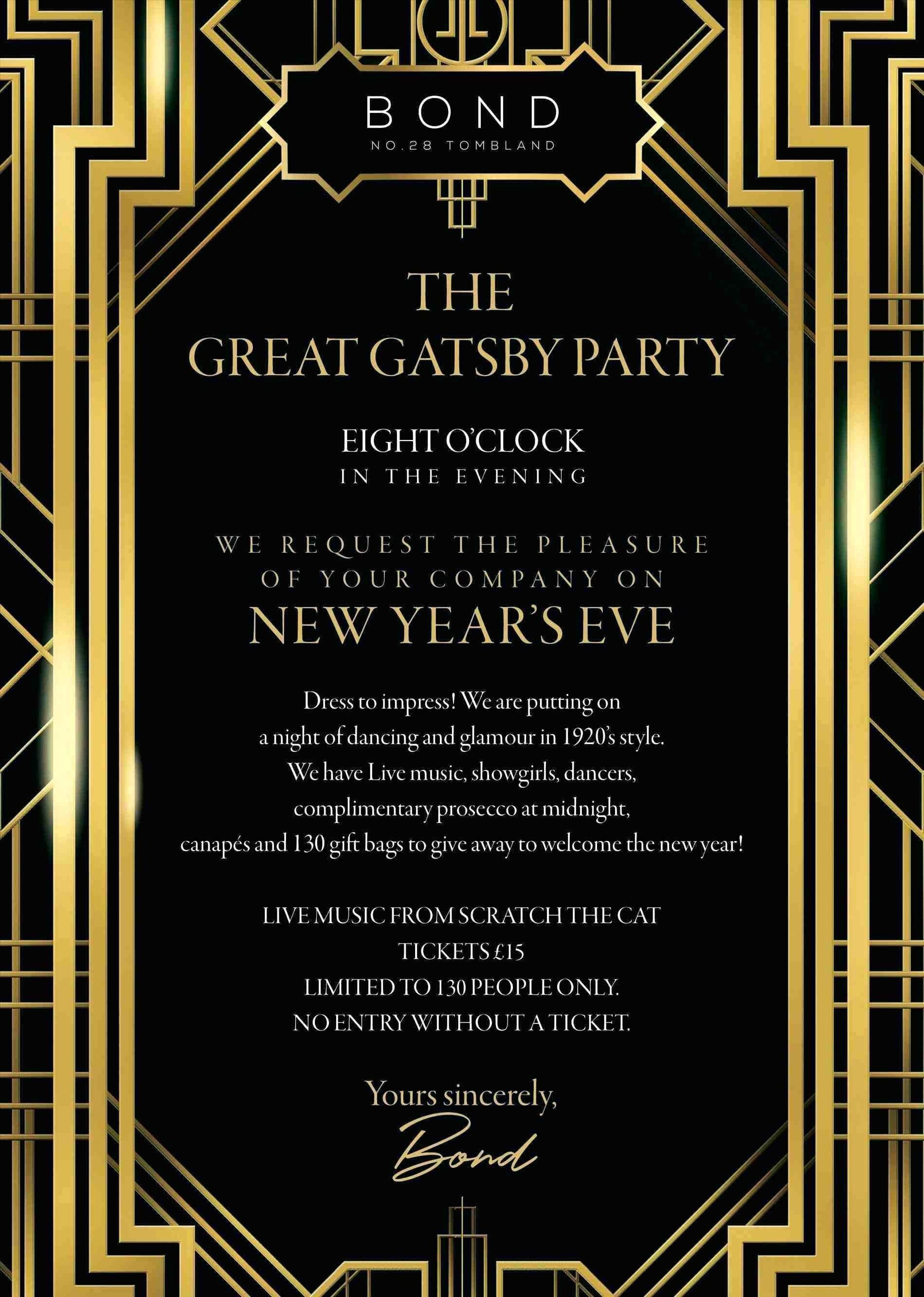 Great Gatsby Invitation Template  Great gatsby invitation, Gatsby