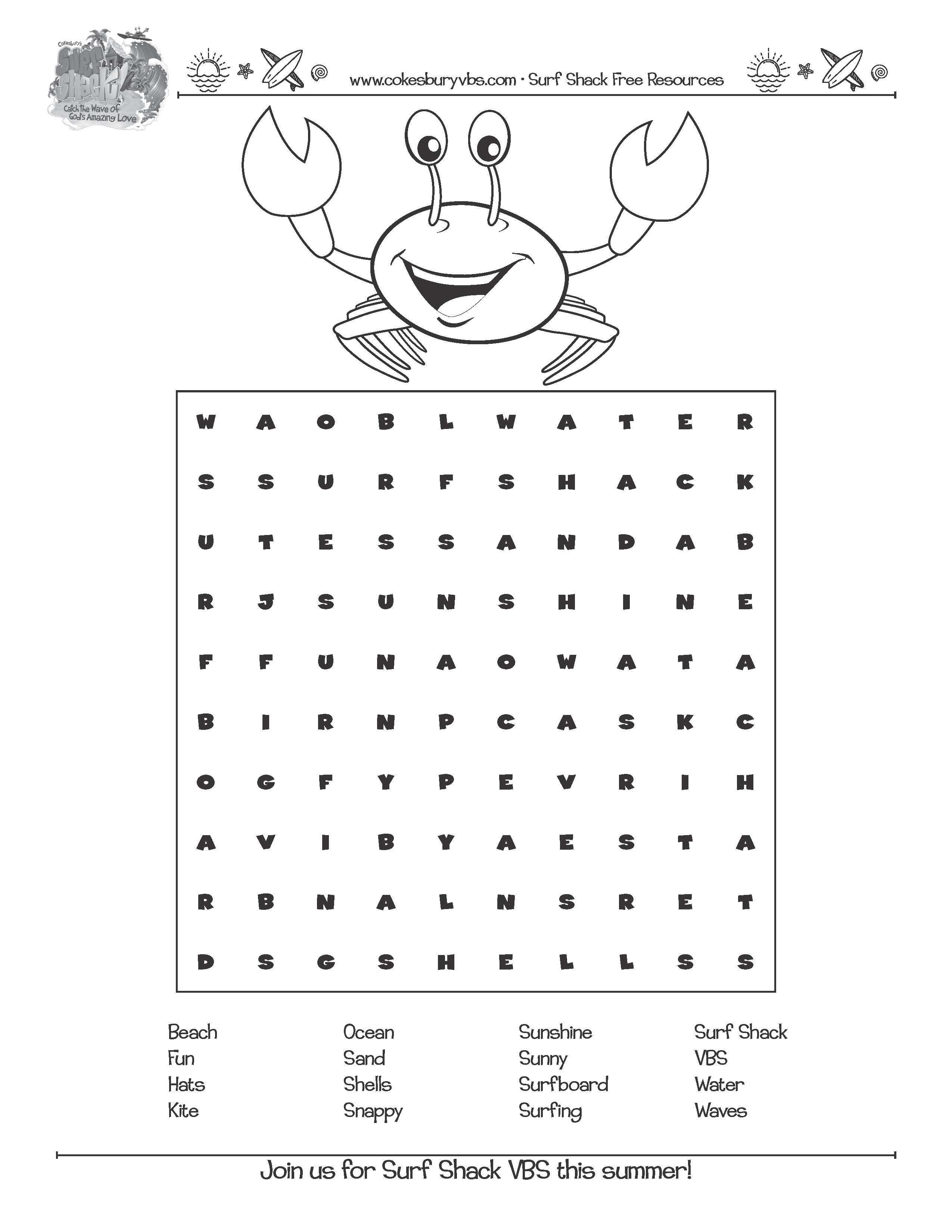 Enjoy Snappy Word Search Kesburyvbs