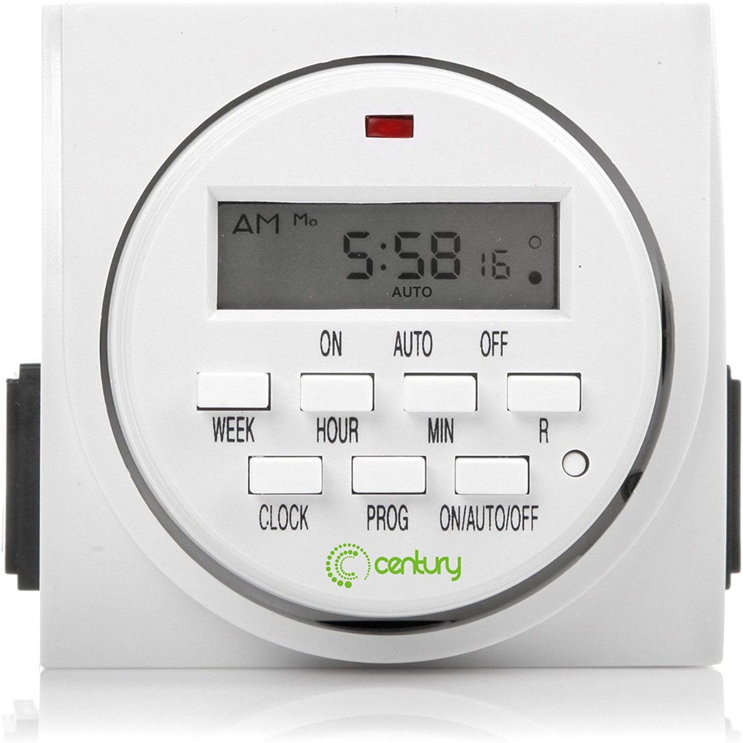 Century 7 Day Heavy Duty Digital Programmable Timer Dual Outlet Both Control Find Out More About The Gr Timer Lights Timer Lamp Light