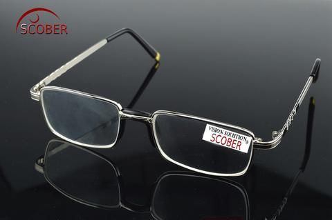 6df11963ad SCOBER  Two Pairs Full-Rim Natural Crystal Lenses Alloy Comfortable Nose  Pad Reading