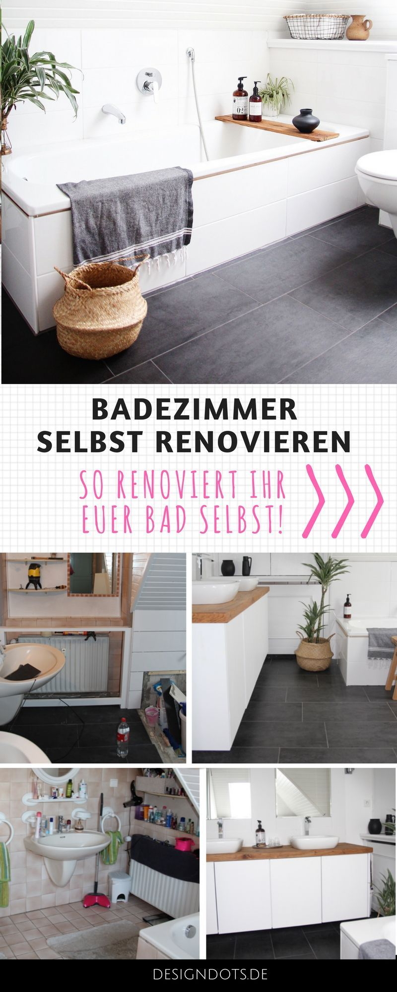 badezimmer selbst renovieren vorher nachher my living cube pinterest badezimmer baden. Black Bedroom Furniture Sets. Home Design Ideas