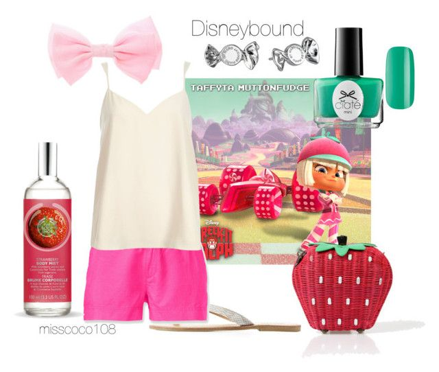 """Taffyta Muttonfudge Disneybound"" by misscoco108 on Polyvore featuring Mode, Charlotte Russe, The North Face, River Island, Ciaté, The Body Shop und Marc by Marc Jacobs"