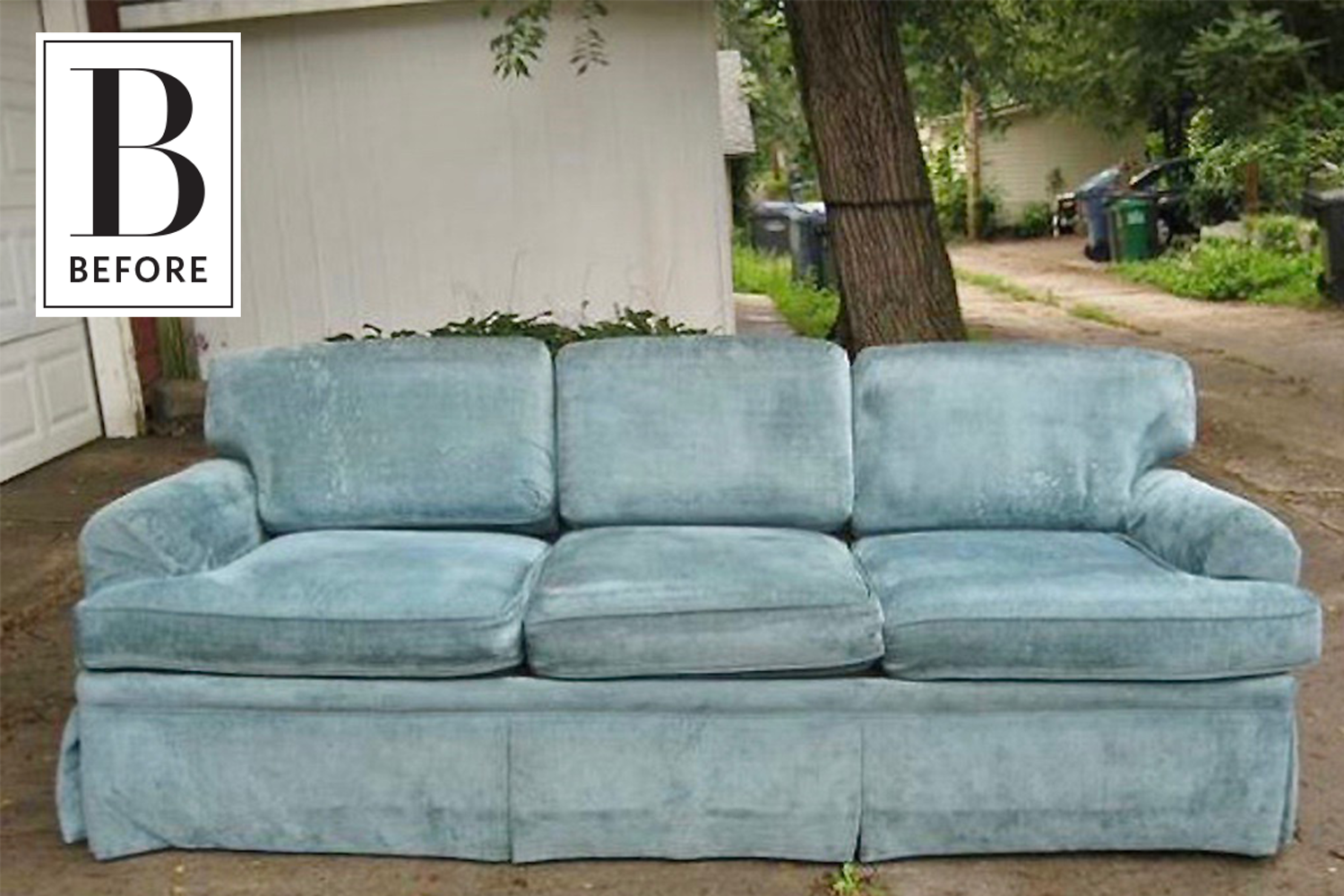 Before After An 80 Sofa Gets An Affordable And Easy Refresh Chenille Sofa Sofa Makeover Couch Makeover