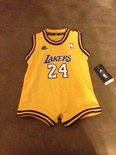 adidas NBA Infant Los Angeles Lakers Kobe Bryant Home Onesie Jersey - (Gold 236bddc86