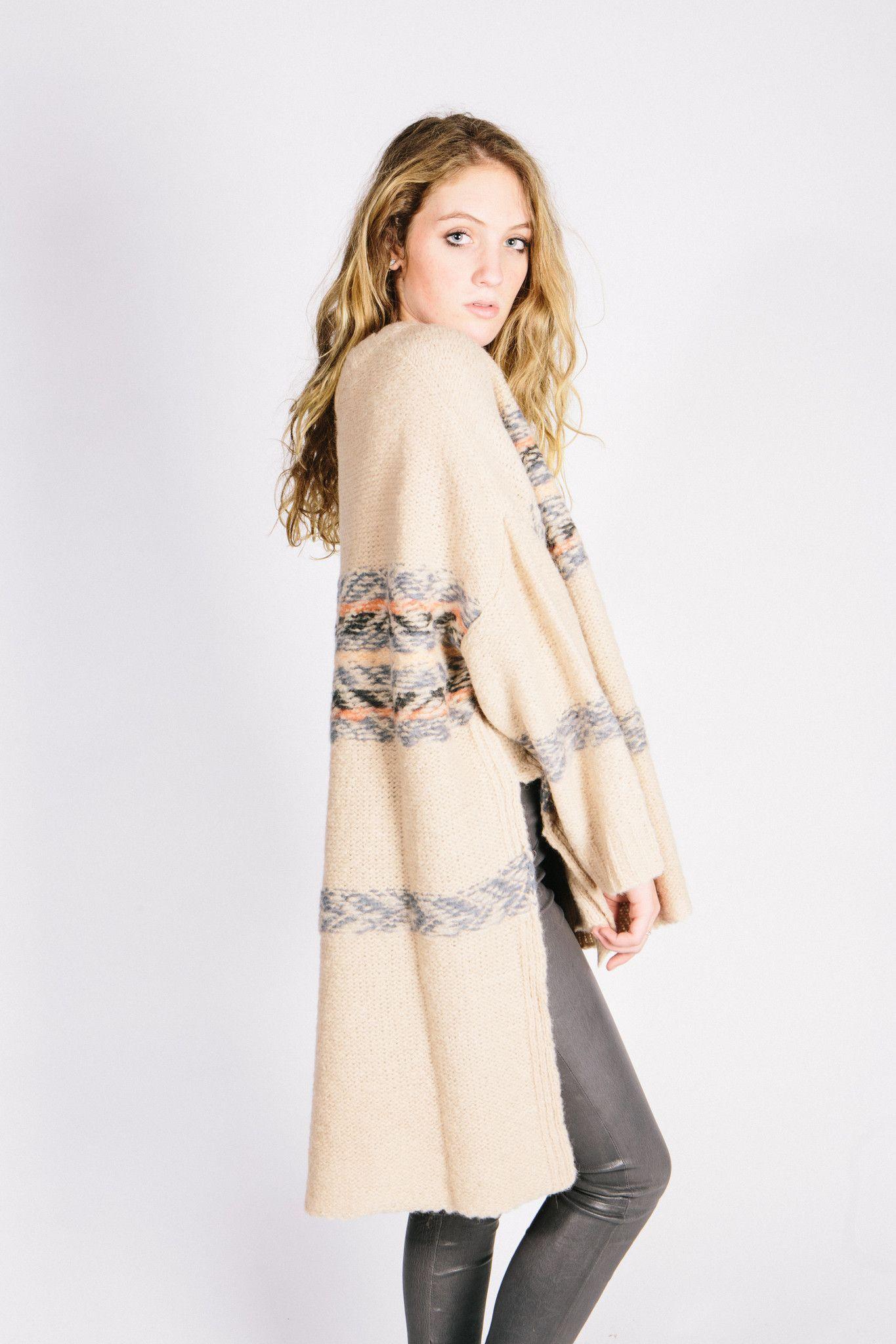 Fair Isle Alpaca + Tunic Sweater + Creme