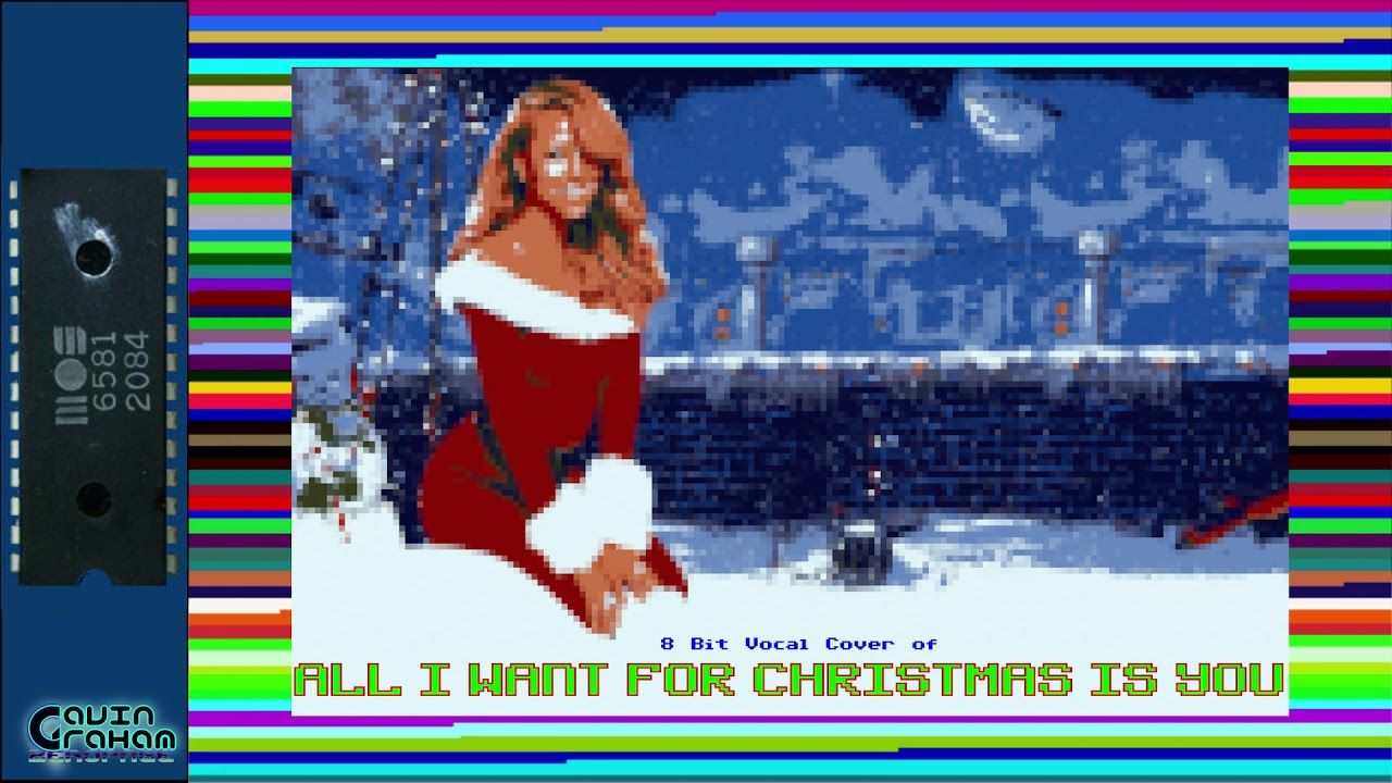 All I Want For Christmas Bitpop Chiptune Tribute To Mariah Carey Christmas Cover Mariah Carey Tribute