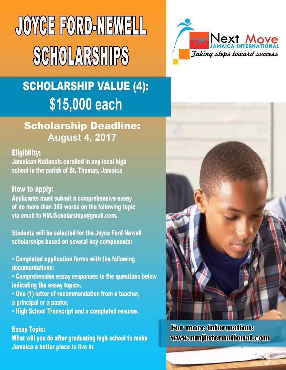 Joyce Ford Newell Scholarships The scholarships are