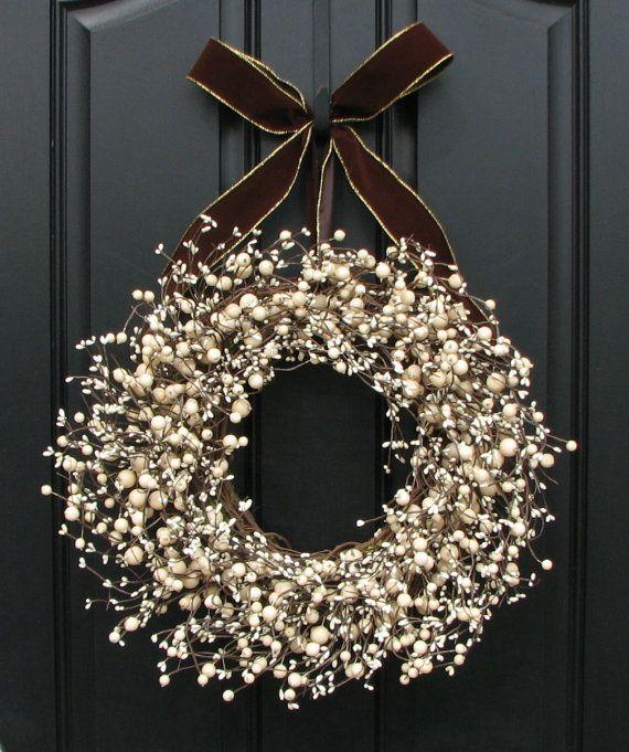 Corona de puerta adornos patrios decoracion navidad for Coronas navidenas para puertas 2016