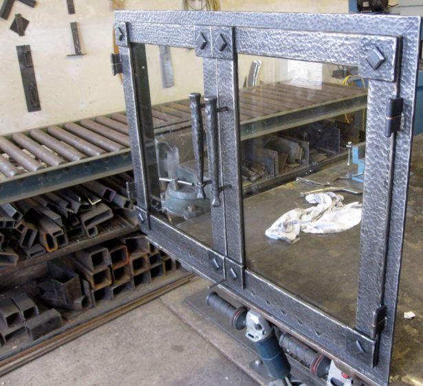Fireplace Iron With Glass Fireplace Doors Design Ideas Custom