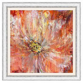 Painted flower art. Very nice.