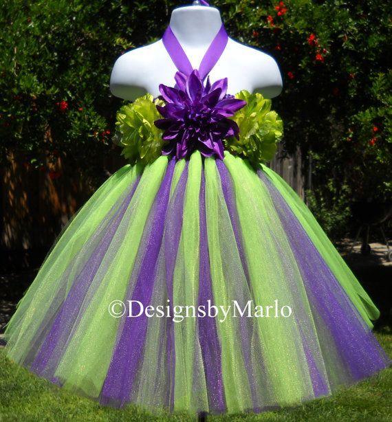 Green And Purple Wedding Dresses