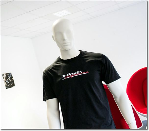 X-Parts T-Shirt V-Neck V-Ausschnitt performance SCHWARZ