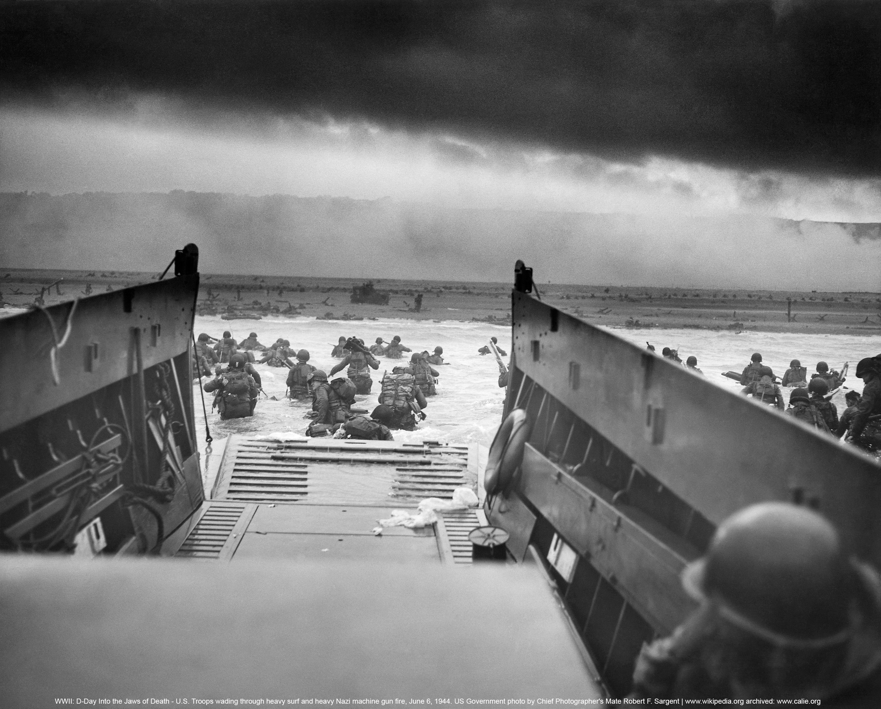 Approaching Omaha Beach 24x36 inch rolled wall Poster D Day