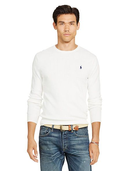 Slim-Fit Pima Cotton Sweater | Cotton sweater and Ralph lauren ...