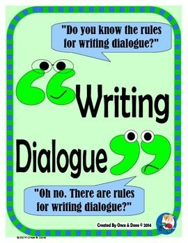 Dialogue Rules, Capitalization and Punctuation Bundle for Narrative Writing