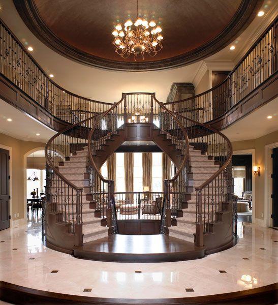 Grand Foyer Staircase: Tutto Interior Design Project Portfolio
