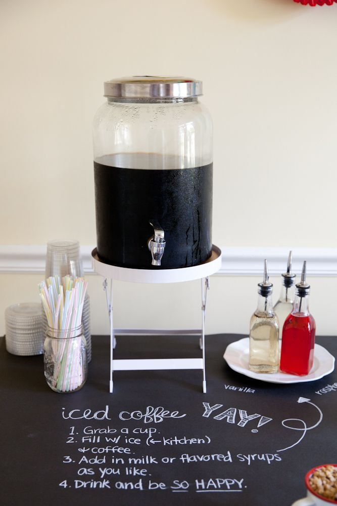 The TomKat Studio: Rise and Shine Pajama Party…. Cold coffee station what an awesome idea