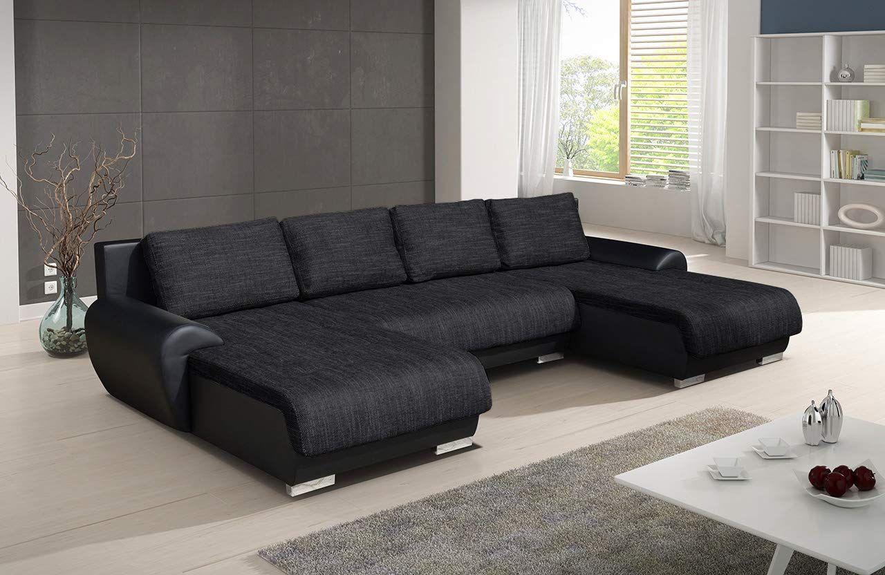 Couch Mit Schlaffunktion Und Bettkasten Schlafflache 305x137 Cm