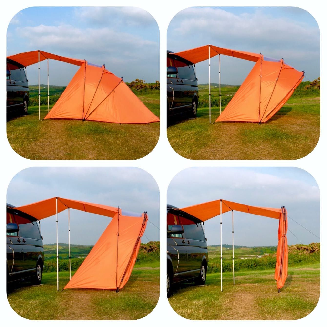 Retractable Awning Tent Adds Extra Roof And Views To Your Camper Van Tent Campervan Awnings Camper