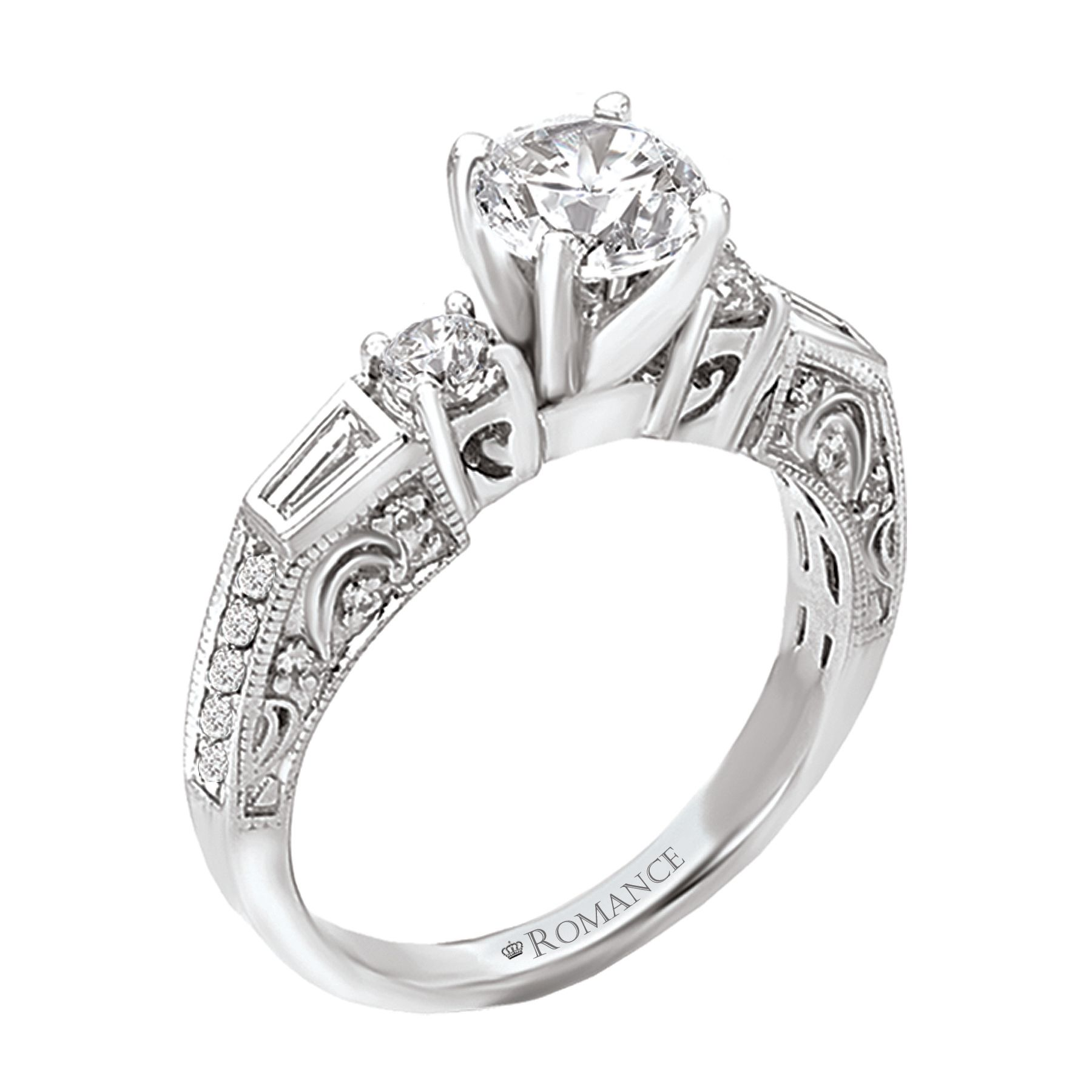 Romance collection engagement rings available here at armentor