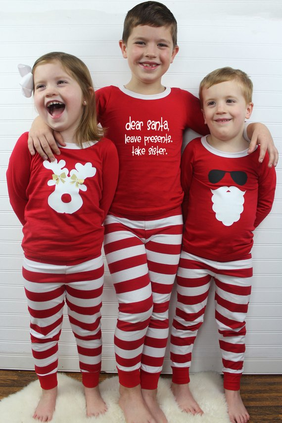 Kids Christmas Pajamas.Kids Christmas Pjs Childrens Christmas Pajamas Christmas