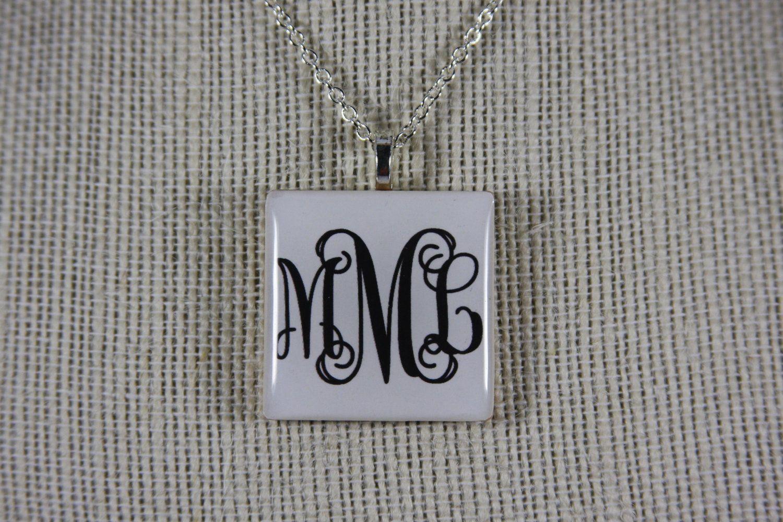 Custom+White+3Letter+Monogram+Wood+Pendant+by+sweetsammycreations,+$20.00