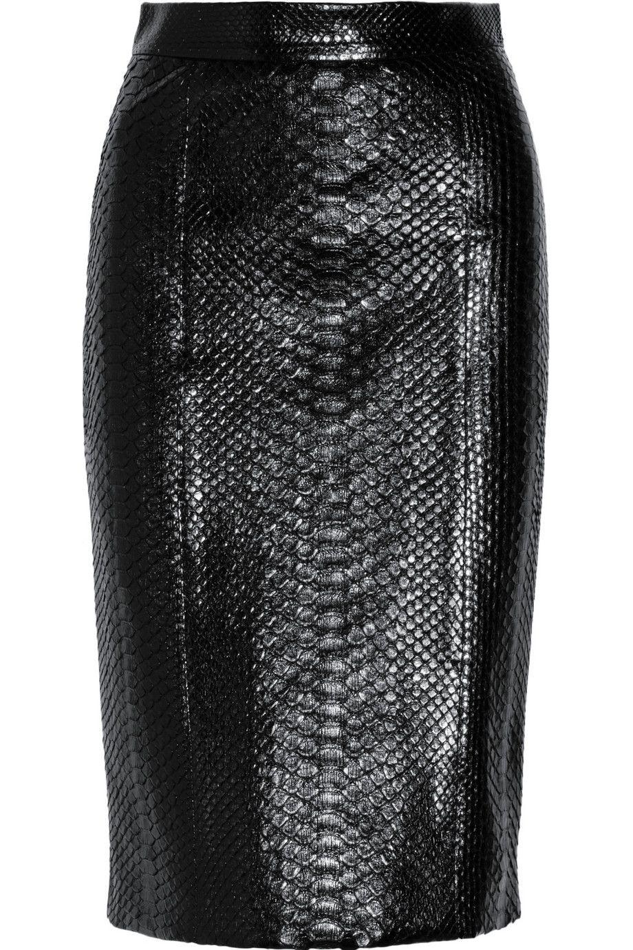 Gucci|Python pencil skirt