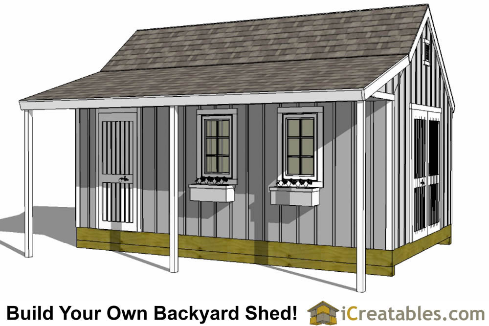 12x20 Shed Plans Easy To Build Storage Shed Plans Designs Shed With Porch Shed Design Storage Shed Plans