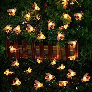 Solar Powered String Lights, 30 Cute Honeybee LED Lights