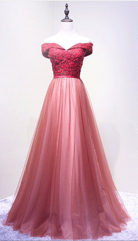 Evening Dress,Off Shoulder Prom Dress,Cute Style Pink#prom ...