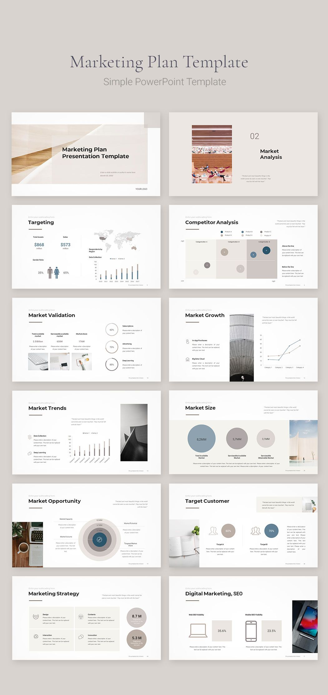 Marketing Strategy Template (With images) Marketing