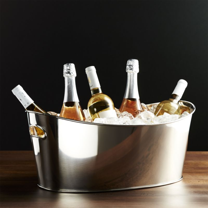 Oval Party Ice Tub Reviews Crate And Barrel Beverage Tub