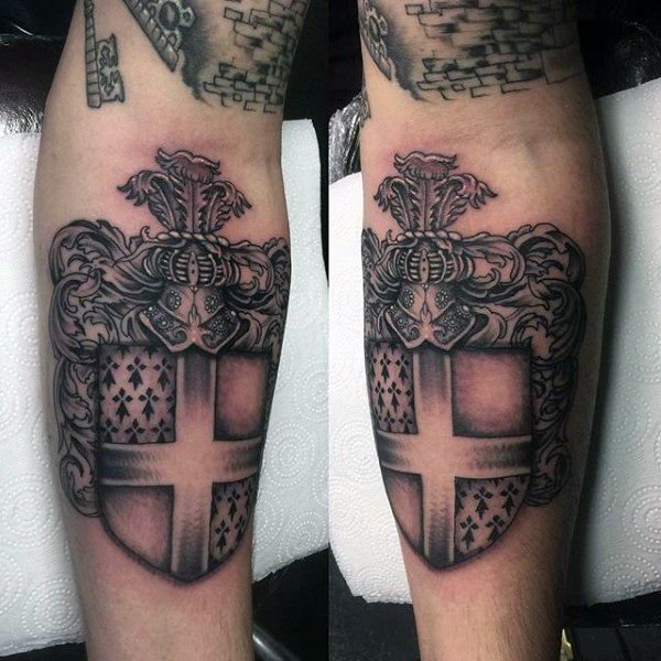 50 family crest tattoos for men proud heritage designs pinterest mens tattoos tattoo and tatt. Black Bedroom Furniture Sets. Home Design Ideas