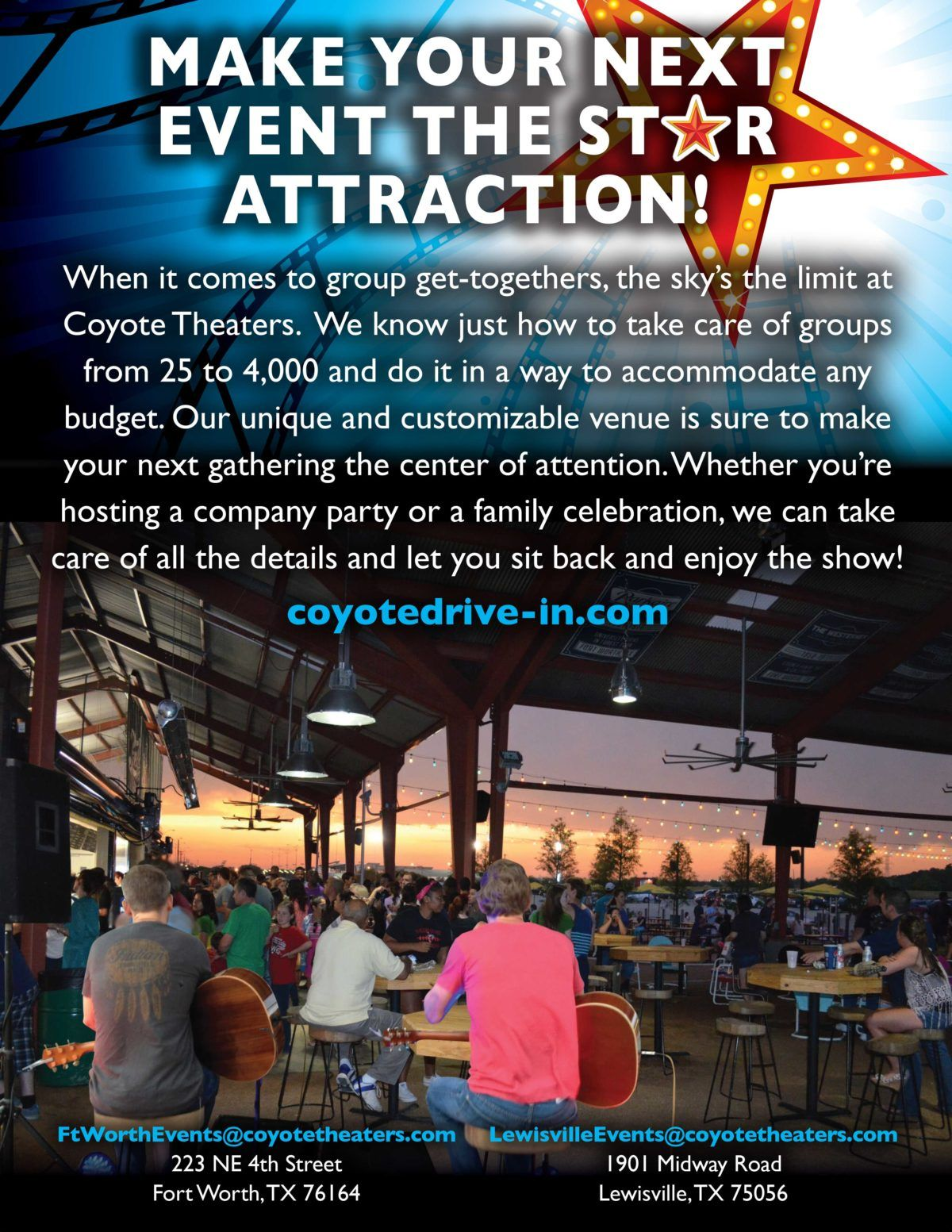 Coyote drivein drive in movie theater drive in movie