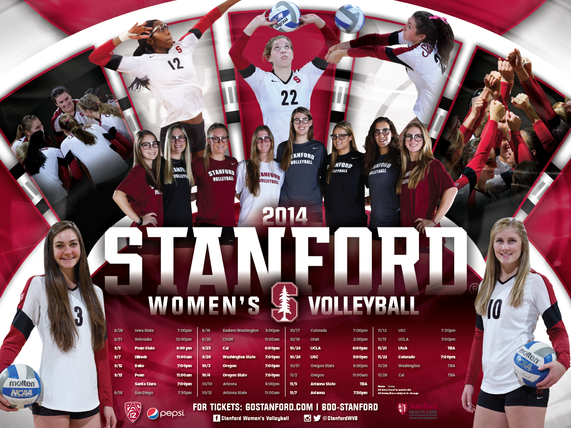 Stanford Volleyball Poster 2014 Volleyball Posters Stanford Volleyball Sports Marketing