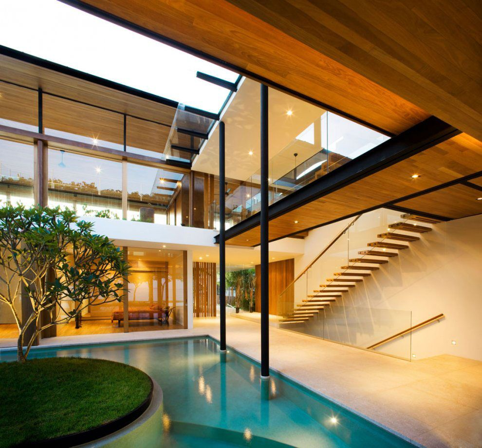 Environmentally Friendly Modern Tropical House In Singapore | iDesignArch |  Interior Design, Architecture & Interior