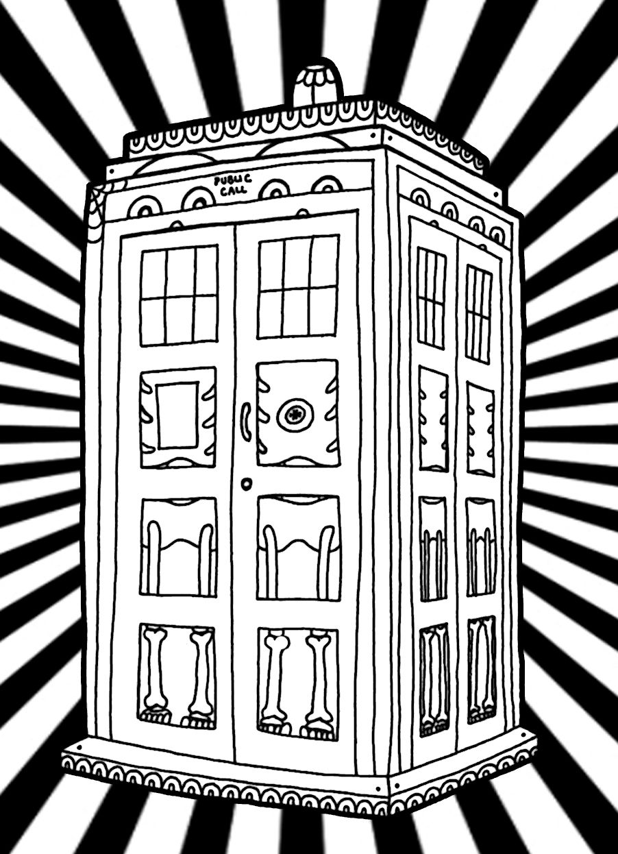 yucca flats n wenchkins coloring pages dia de los tardis