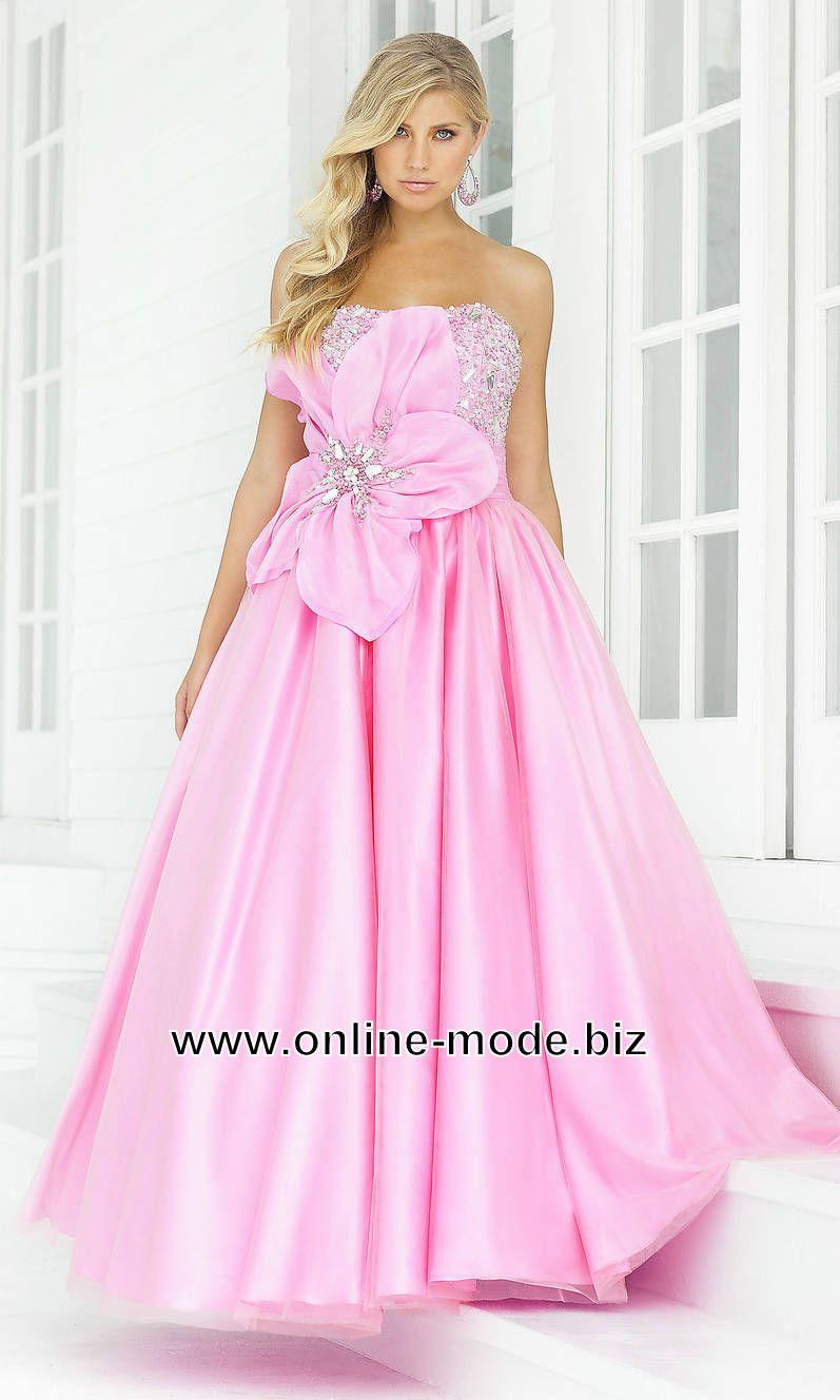 Bustier Abendkleid in Rosa Bodenlang von www.online-mode.biz ...