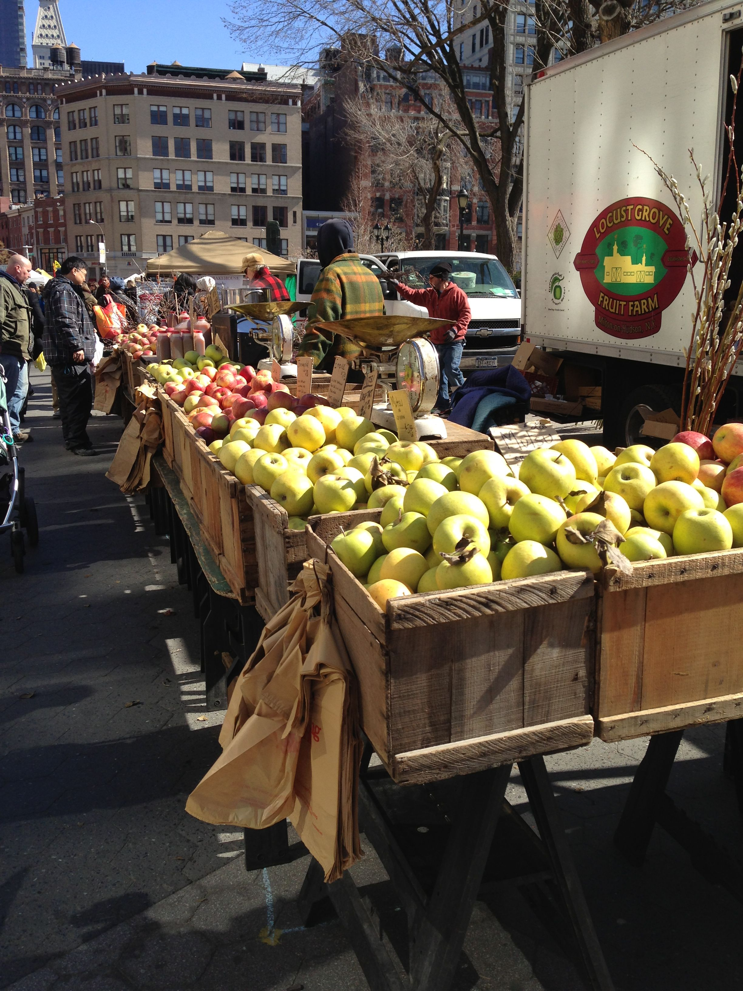 Apples at union square greenmarket nyc with images