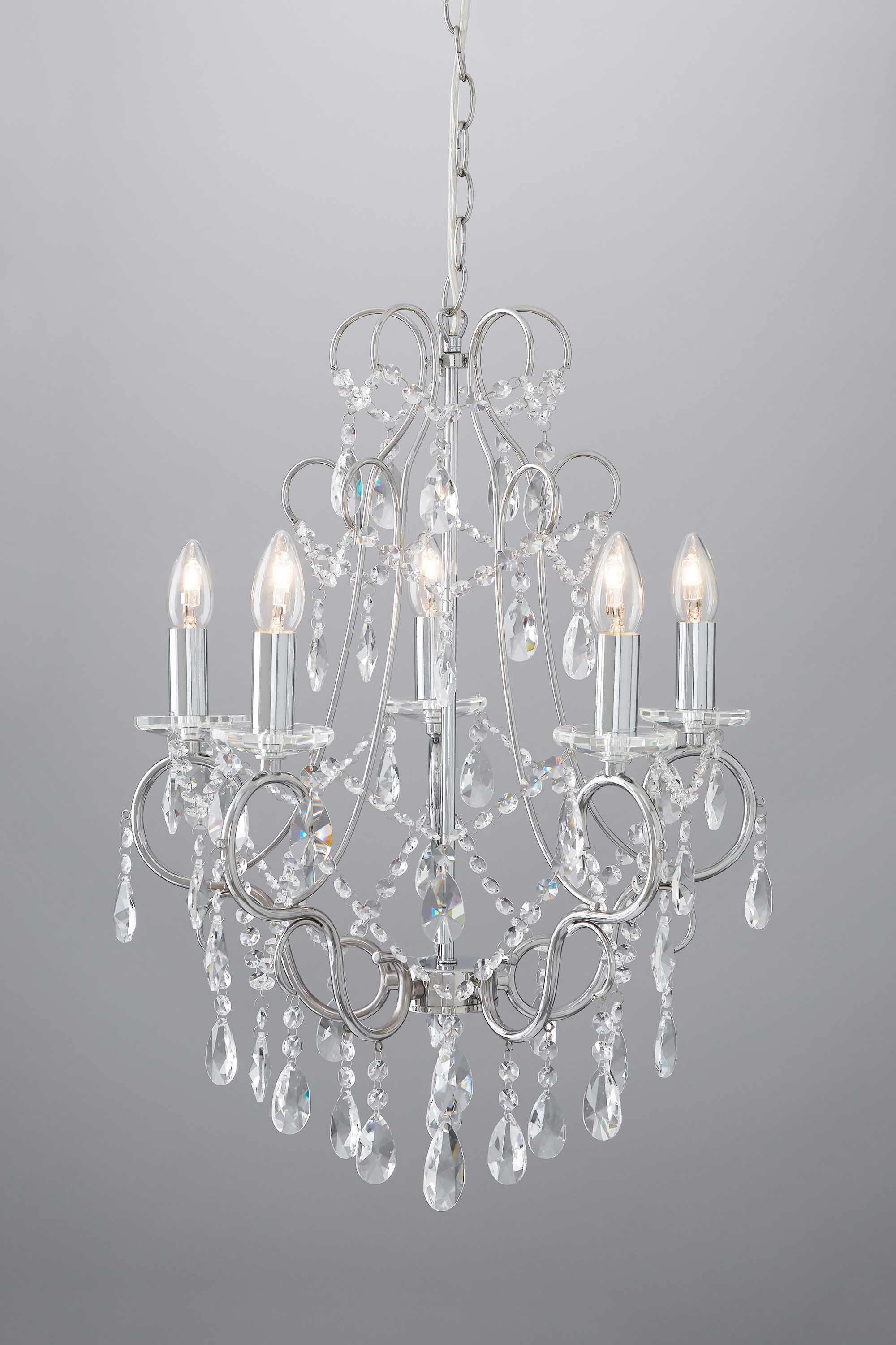 Viola 5 Light Chandelier BHS Crystal Chandeliers