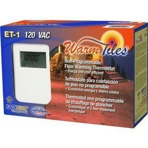 Easy Heat Inc Et1 Nonprogrammable Thermostat By Easy Heat 91 52