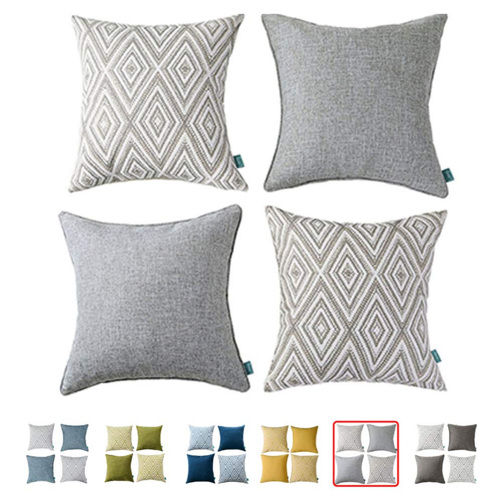 Amazon Com Hpuk Plaid Polyester Decorative Pillow Covers Throw Pillows Covers Couch Pillowcase Cush Throw Pillows Throw Pillow Covers Throw Pillow Cover Couch