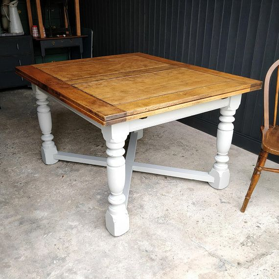 Large Solid Oak Draw Leaf Table 4 8 Seater Extending