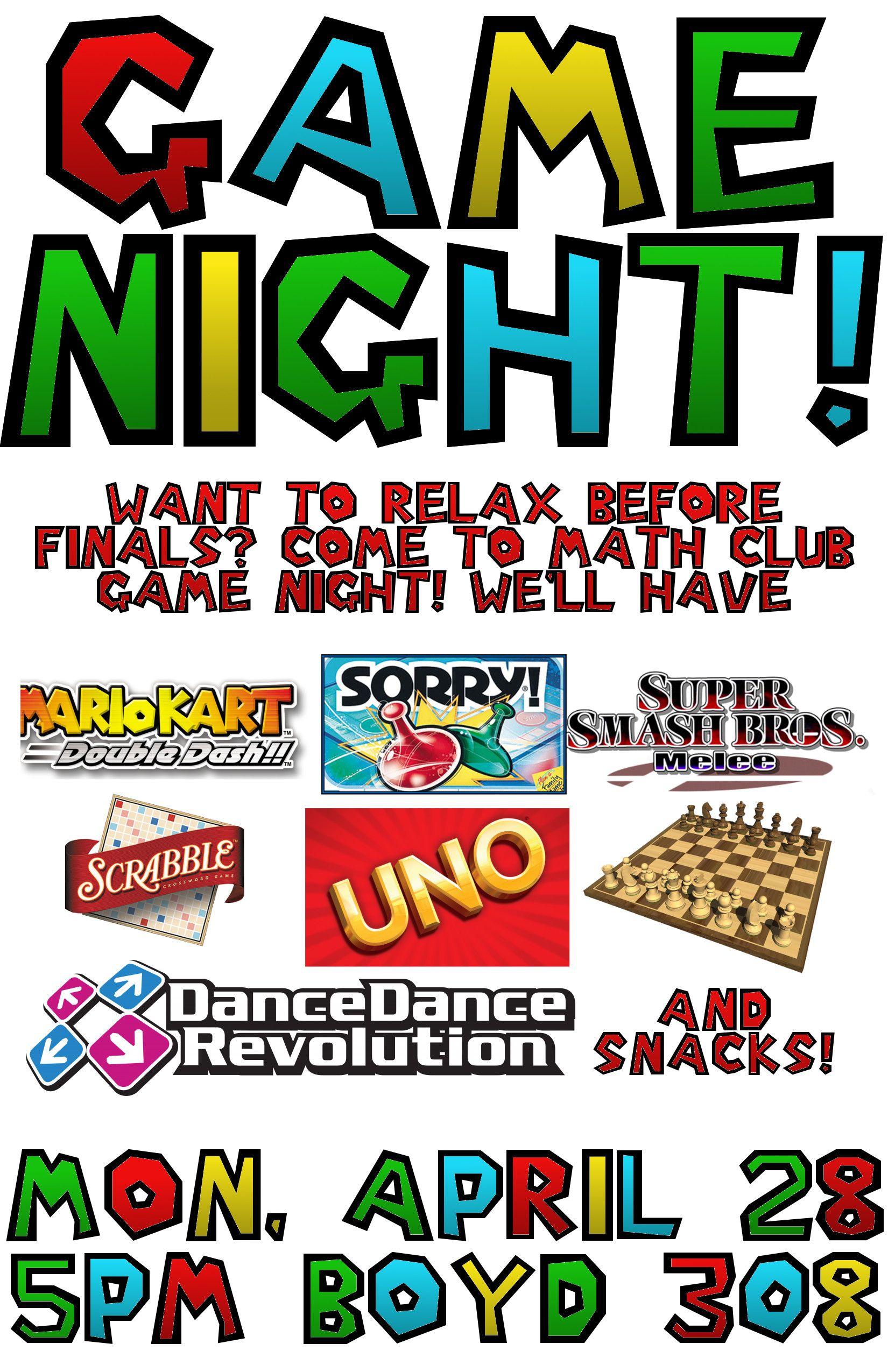 game night invitations - Google Search | game night invitations ...