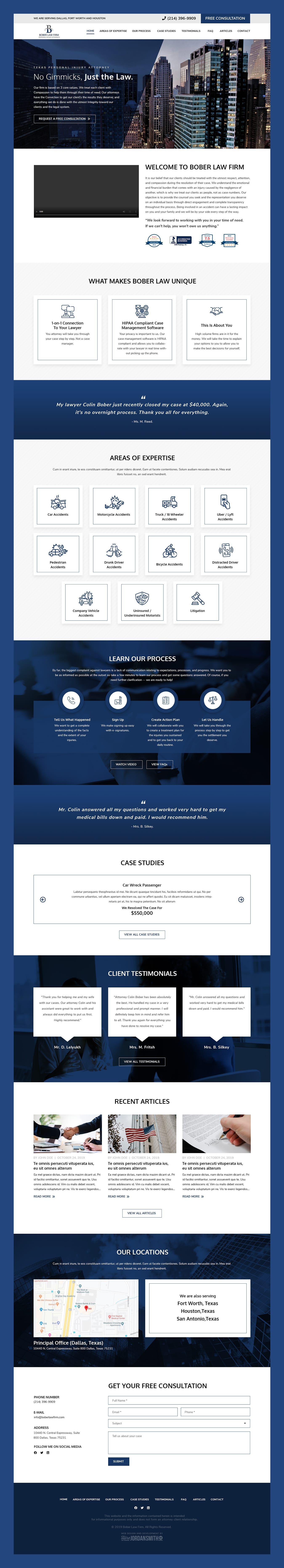 Bober Law Firm Web Design By Hire Jordan Smith Web Design Law Firm Web Development Design