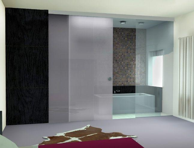 Frameless bathroom sliding glass doors design ideas | Bathroom ...