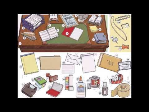Office supplies and stationary video - English basics - Learning English with videos and pictures