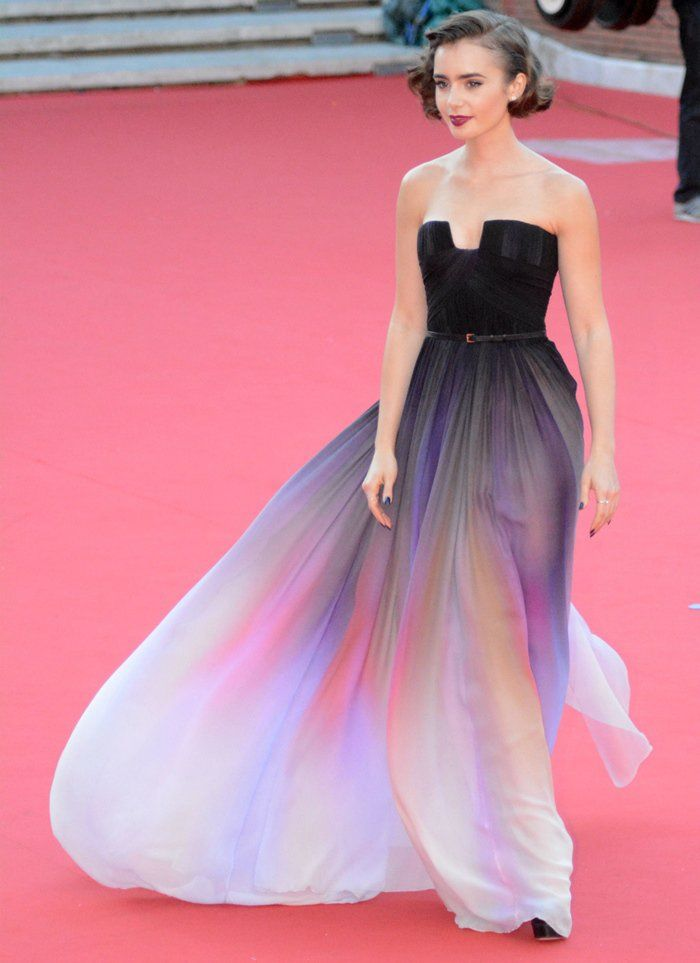 Gowns · Lily Collins Is Stunning in Elie Saab Couture at